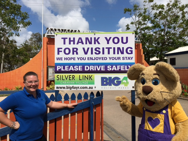 Ditto helps out at the Ayr Big4 Silver Link caravan park