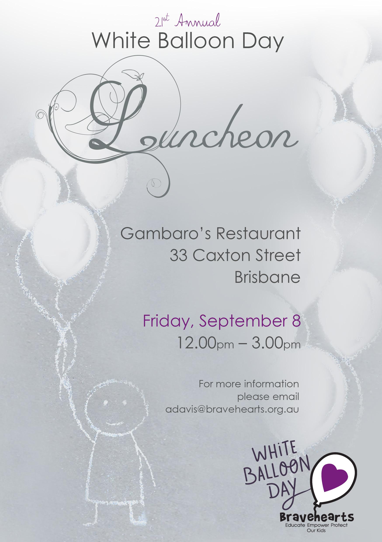 Luncheon Invitation Design Bravehearts